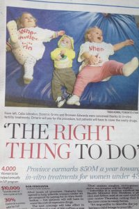 The Right Thing To Do Newspaper Clipping about IVF